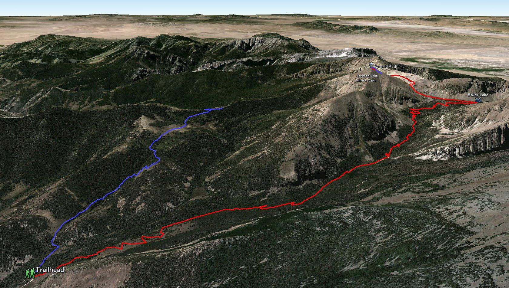 Baker Johnson Lake Loop Great Basin - Johnson lake map