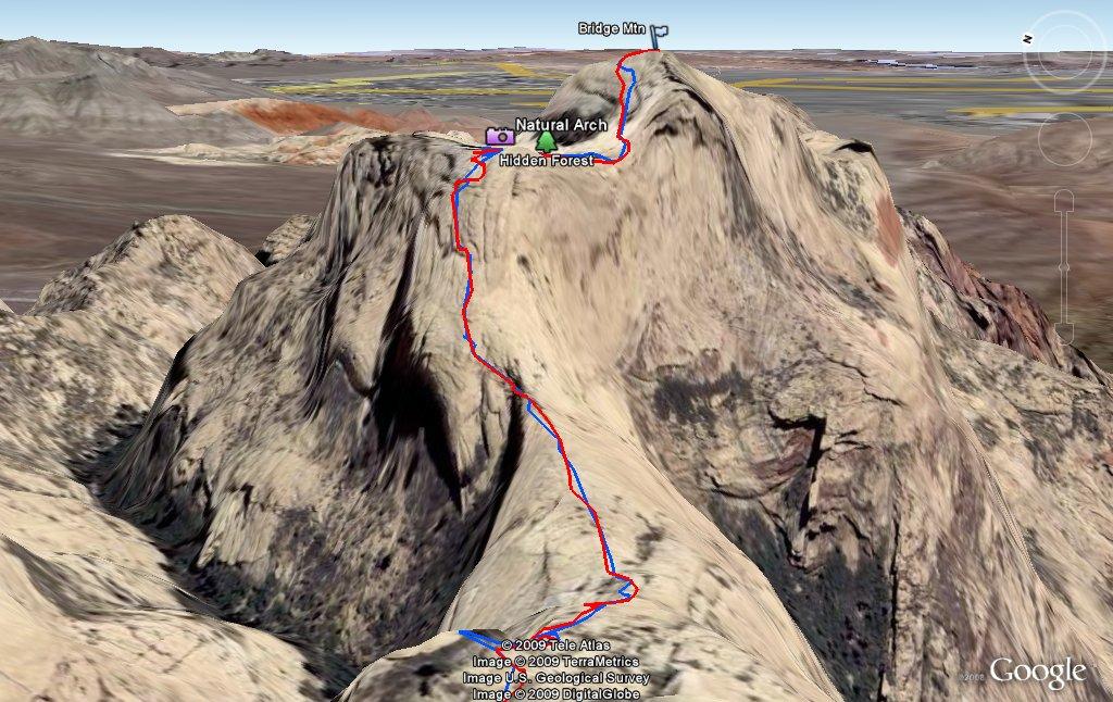 Bridge Mountain Hike 03/14/2009
