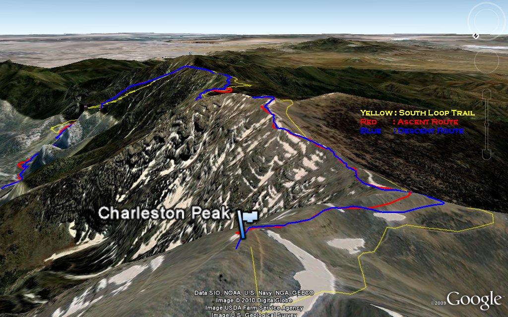 Charleston Peak Winter Backpacking Snowshoeing Trip 02 20